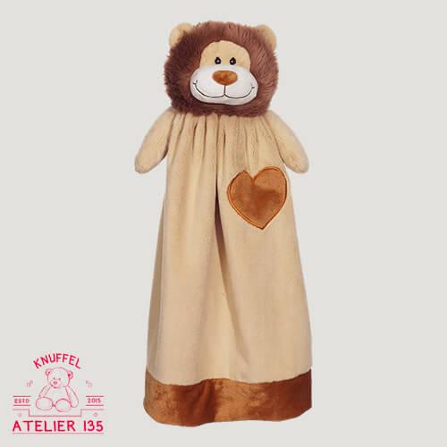 Knuffeldoekje Loekie de Leeuw personaliseren