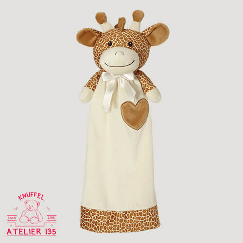 Knuffeldoekje Gerry de Giraffe Junior met naam personaliseren