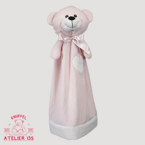Knuffeldoekje Misses Pink personaliseren met naam