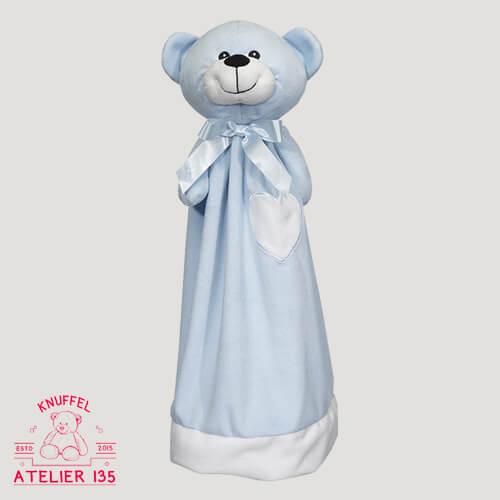 Knuffeldoekje Mister Blue personaliseren naar wens