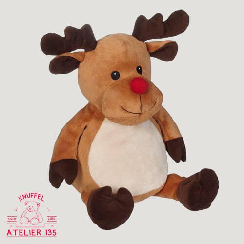 Gepersonaliseerde knuffel Rudolf het Rendier