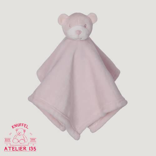 Knuffeldoekje Misses Pink Junior personaliseren met naam