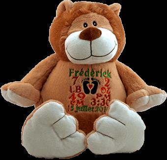 Gepersonaliseerde knuffel met naam geboortegeschenk kraamkado